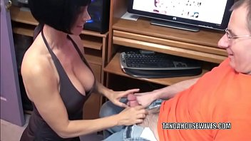 Busty housewife Melissa Swallows is going down on a cock