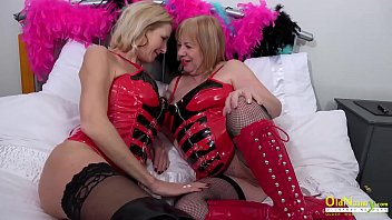 OldNannY Lesbian Mature Ladies in Latex Corsets