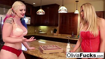 Olivia anally violates her late Pizza deliver girl Leya!