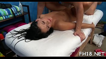 This sexy 18 year old hot hotty gets fucked hard from behind by her massage therapist