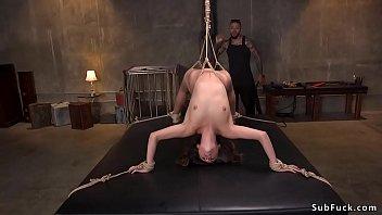 Black master puts babe in brutal bondage