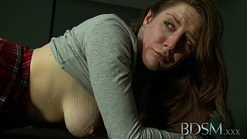 BDSM XXX Ball-gagged submissive girls ass plugged and fucked by her Dom