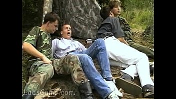 Civil gay union Lewd military guys seduce cute civil boys outdoors