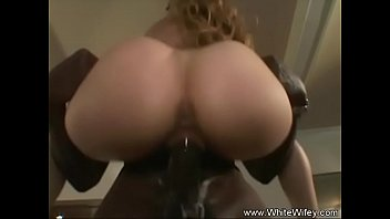 White wife fucks black cock Wife enjoys her first bbc
