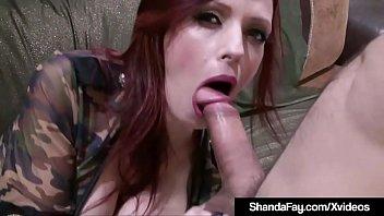 Creampied Cougar Shanda Fay Sucks Her Soldier's Barrel!