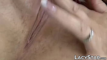 Old cumslut Lacey Starr facialized in interracial fourway