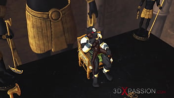 3dxpassion.com. Anubis fucks a young egyptian slave in his temple