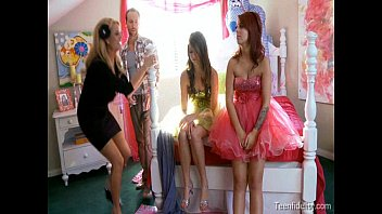 Prom night sex video Kelly madison lets her husband fuck two teen girls on their prom night