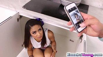 Naughty Nicole Bexley takes stepdad's cock