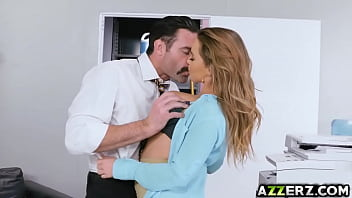 Gorgeous babe Natasha in an office fuck initiation