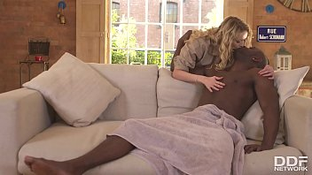 Blonde Milf Amber Jayne gets her horny pussy stuffed with a big black cock