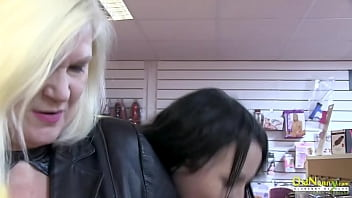 OLDNANNY Blonde British Mature Porn Star Showoff