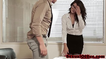Sexy secretary in stockings Gorgeous closeup officesex with alexa tomas
