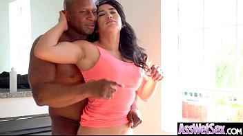 (Mia Li) Big Oiled Butt Girl Love Anal Hardcore Sex clip-21