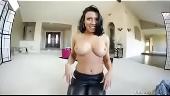 Big ass in leather leggins is fucked (cum in leather)