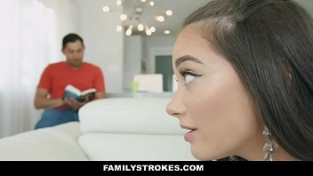 FamilyStrokes - Stepdaughter (Gia Paige) with Big Ass Seduces & Fucks Dad