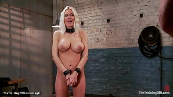 Big boobs blond pornstar trained