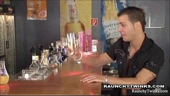 Twin cities gay bars - Horny twink in hot steamy sex at the bar