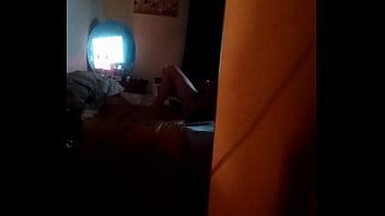 Spying on neighbor fucking her self