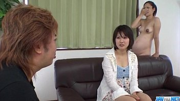 Ai Nashi feels amazing with cock in both her holes