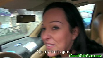 Real euro babes creampie in her taxi thumbnail