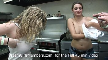 College Teens First Time Naked In Public At Bar Wet T Shirt Contest