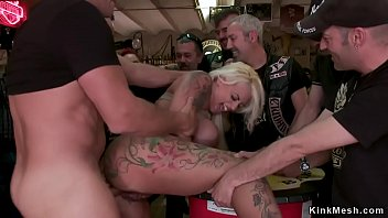 Alt huge tits blonde anal in public bar
