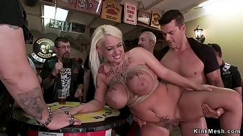 Alt huge tits blonde anal in public bar