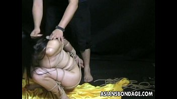 Naked jope roping - Bound bitch is bdsm treated and humiliated by the master