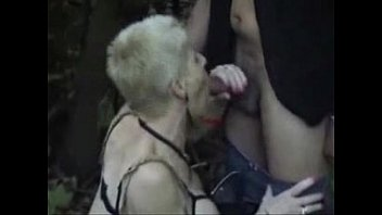 My horny bitch used by strangers outdoor. Public nudity thumbnail