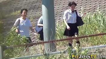 Watched asian teens in uniform pee thumbnail