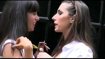 Teen girl cigarette Smoking break with two girls talking about their tits