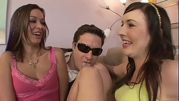 Distinguished-looking gentleman invited couple hot young  chicks Crissy Moon and Ashli Orion to ride his hard rod