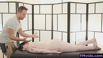 Busty hot brunette Amilia Onyx fucked by masseur