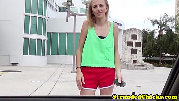 Little stranded blonde teen fucked for a ride preview image
