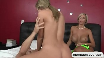 Teen slut analyzed by her BF and stepmom