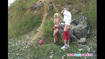 Sex mountain - Skinny blonde bitch having hard sex on the mountain