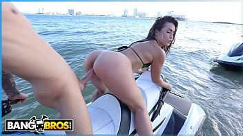 BANGBROS - Big Ass Latina Babe Kelsi Monroe Rides A Water Craft And A Cock In Public