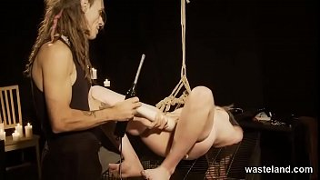 Dominated By Dreadlocked Master While Hogtied In Ropes