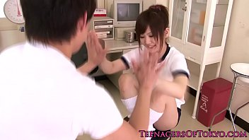 Teen at doctor Hairy japanese teen fingered