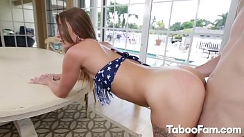 Horny Stepsis Pounded during 4th of July Party 8 min