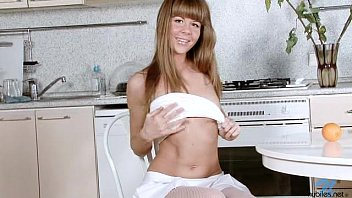 Teen Agata Naughty Fingers in the Kitchen