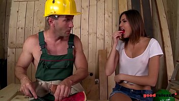 Well hung construction worker fucks the shit out of horny brunette Agness