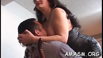 Woman smothering hubby in avid home porn movie scene