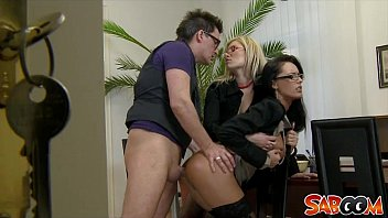 Office Threesome Spy Cam Video