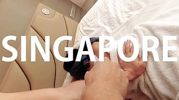 infiel chino gf GRABS masajista blanco .. squirting asiática aficionado real en Singapur!
