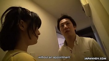 Japanese pornstar, Shimizaki Rika visits her loyal fan unannounced, uncensored