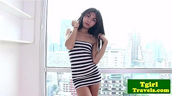Nude ladyboy models - Asian ladyboy amay loves to show her ass