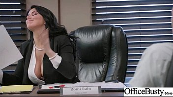 (Romi Rain) Girl With Round Big Tits In Hard Style Sex In Office clip-26