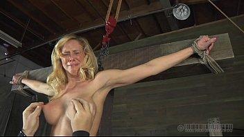 Slaver is torturing babe's cunt